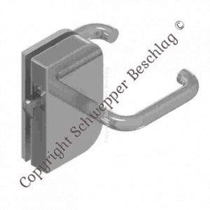 Sliding door rim lock Stainless steel for glass doors | GSV-Nr. 9714 SF right hand