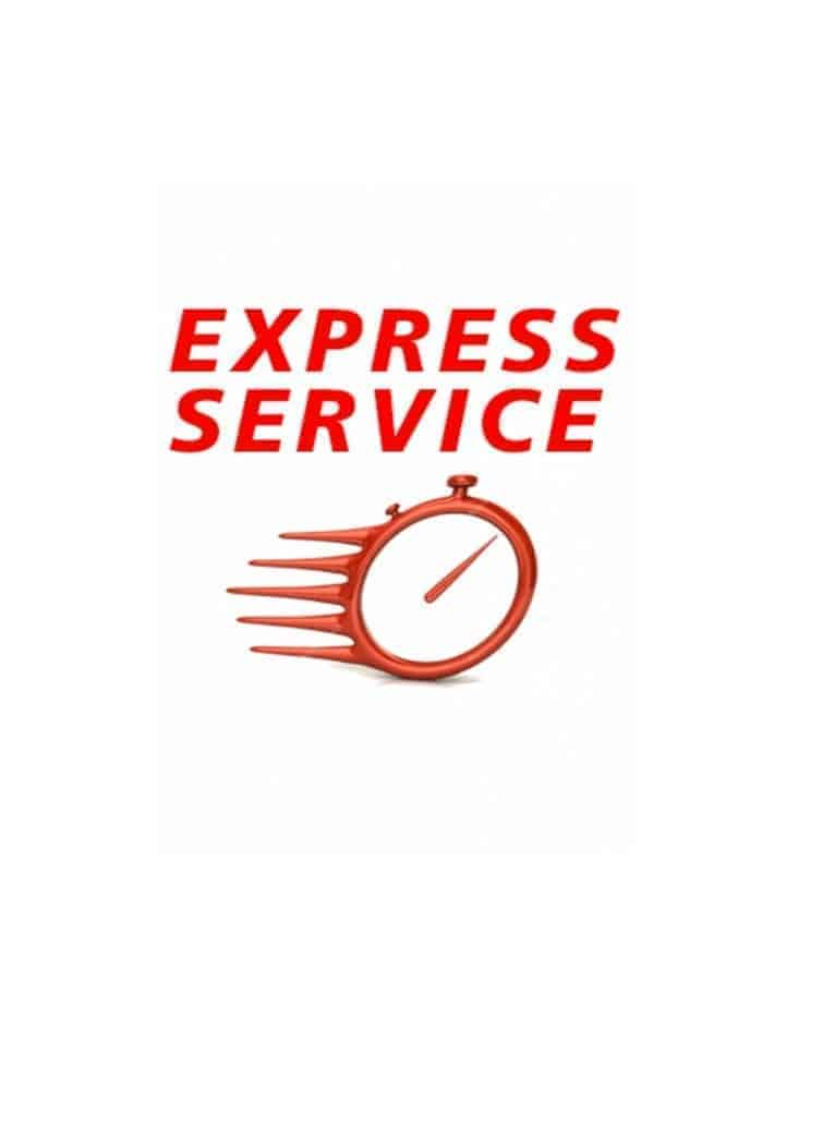 Note on this express dispatch | 24 delivery service