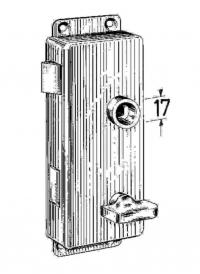 Kasten-WC-Schlössser Messing